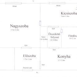 Eladó, több funkcióra is alkalmas, egy 1+1/2 szobás lakás Miskolcon
